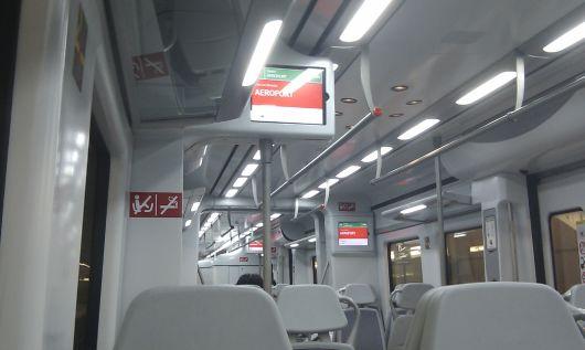 Vlak z barcelonského letiště